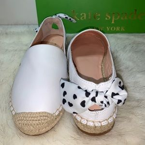 NEW ⭐️ Kate Spade Grayson White Leather Espadrill…